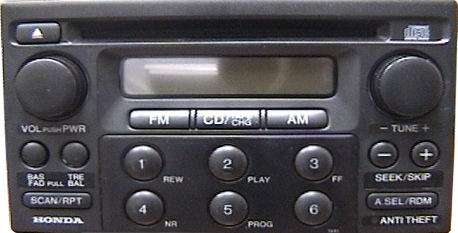 Honda Accord Radio Code >> Honda Accord Car Stereo CD Changer Repair and/or add an ...